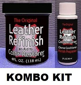 Leather Refinish Color Restorer + Cleaner Conditioner Dye Preparer Kit 43-Colors in Crafts, Home Arts & Crafts, Leathercraft | eBay