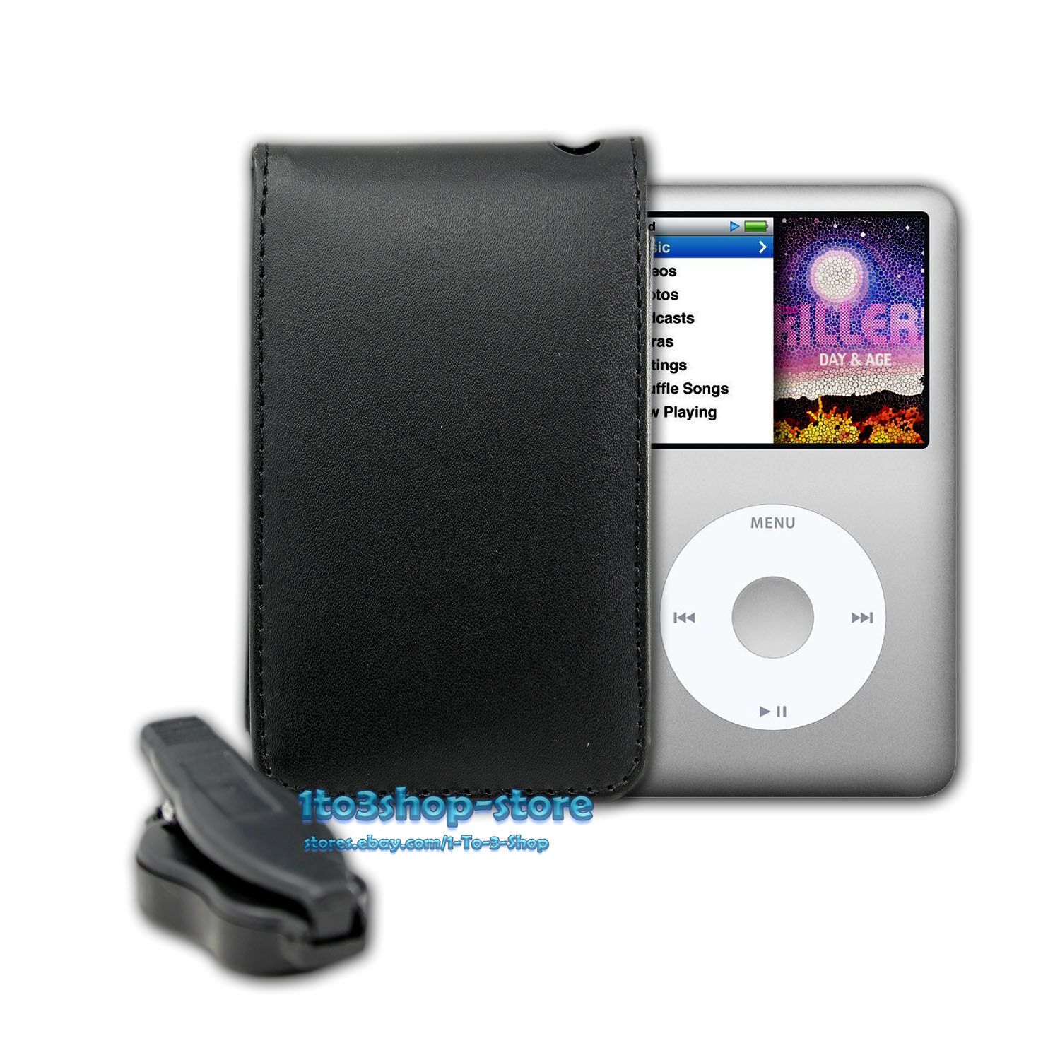 leather sleeve pouch case w belt clip for ipod classic. Black Bedroom Furniture Sets. Home Design Ideas