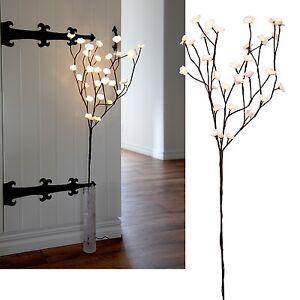 led leucht zweige wei braun beleuchtet mit 30 leds weiden zweige deko leuchte ebay. Black Bedroom Furniture Sets. Home Design Ideas