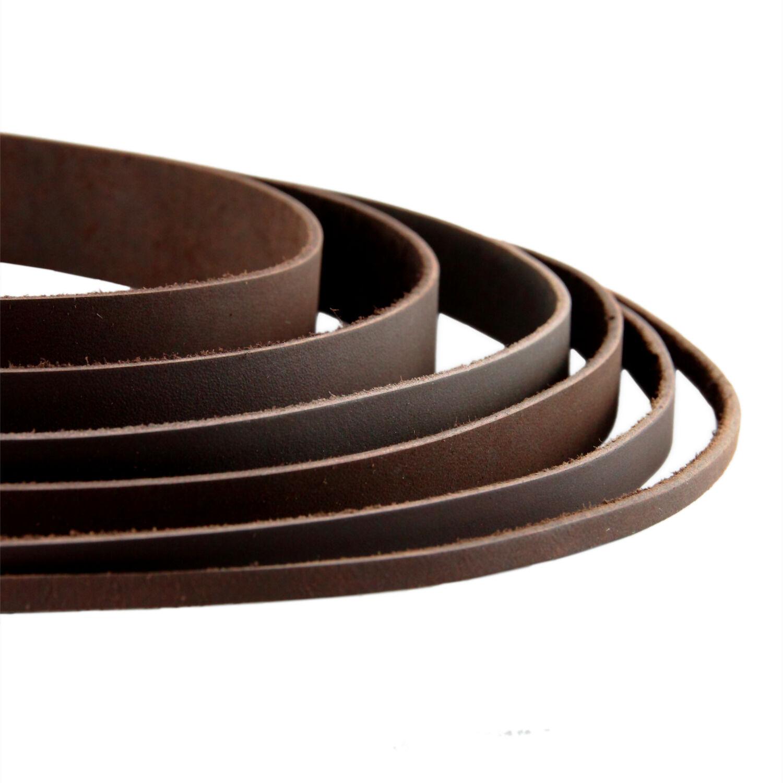 5x Schwarz Lederband Lederriemen flach Riemen 2 Lederstreifen Gürtelleder