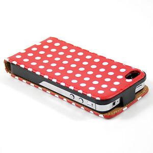 handytasche iphone 4 4s gepunktet schutz h lle flip case. Black Bedroom Furniture Sets. Home Design Ideas