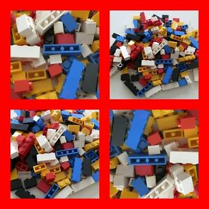 lego 200 basic steine bausteine grundsteine 1x2 1x3 1x4 hoch rot blau gelb wei ebay. Black Bedroom Furniture Sets. Home Design Ideas
