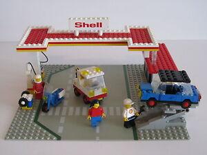 lego stadt 80er 6371 shell tankstelle mit figuren inkl. Black Bedroom Furniture Sets. Home Design Ideas