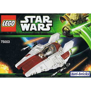 lego star wars a wing starfighter mit bauanleitung ohne figuren aus 75003 ebay. Black Bedroom Furniture Sets. Home Design Ideas