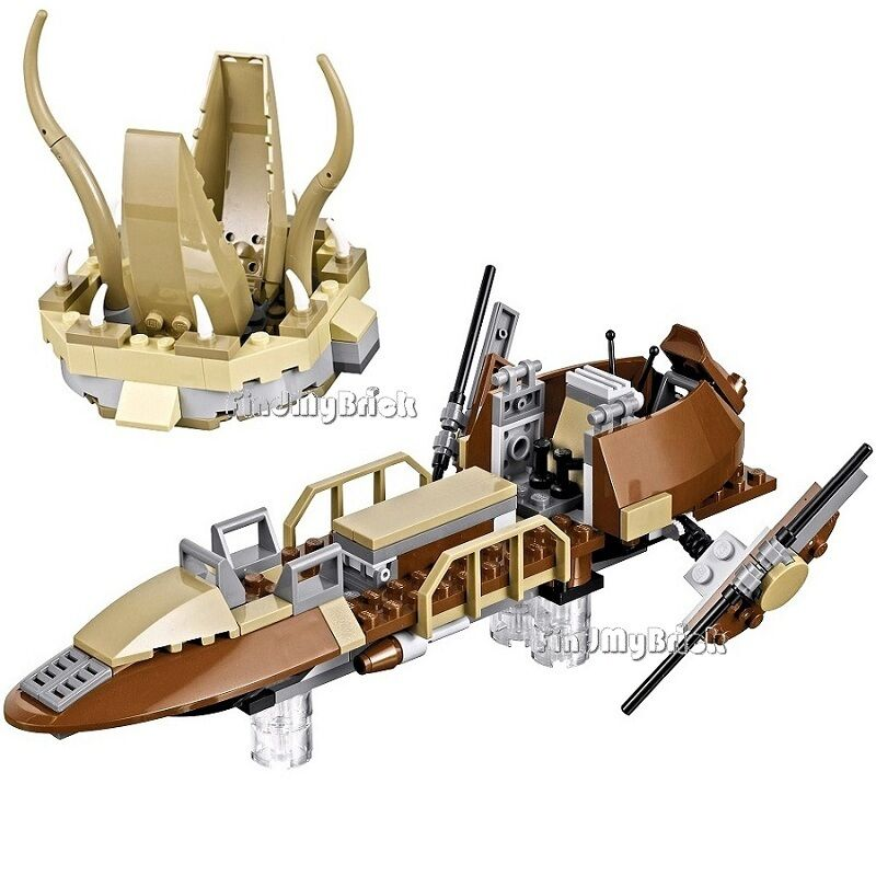 Lego Star Wars Desert Skiff and Sarlacc Pit (No Minifigure No Box ...