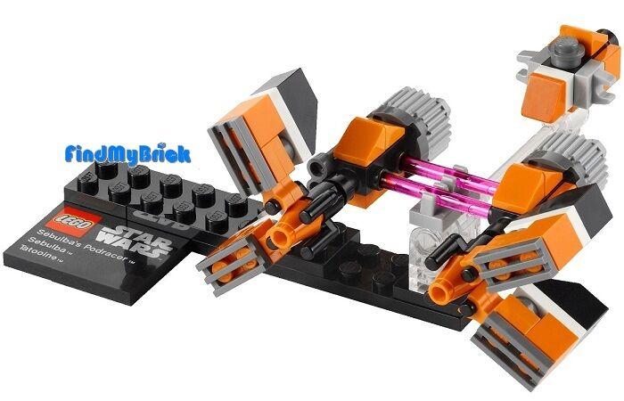 Lego Star Wars Mini Sebulba's Podracers Ship & Base Only ...