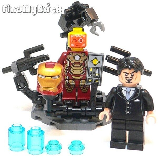 Lego Custom Suit-Up Gantry Anthony Tony & Iron Man Mark 42 ...