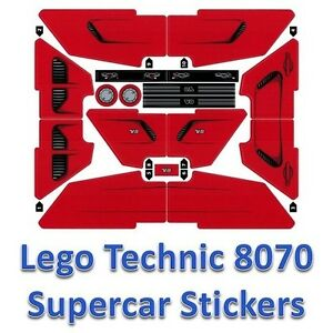 lego technic sticker sheet decals logos transfers for. Black Bedroom Furniture Sets. Home Design Ideas