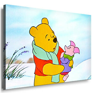 leinwand bild winnie puuh pooh bilder druck gem lde kunstdrucke wandbild poster ebay. Black Bedroom Furniture Sets. Home Design Ideas