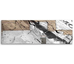 Leinwandbild panorama braun grau wei schrift paul sinus - Leinwandbild grau ...