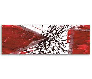 Leinwandbild panorama braun rot grau wei paul sinus abstrakt 778 150x50cm ebay - Leinwandbild grau ...