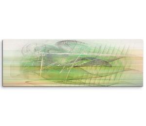 Leinwandbild panorama gr n grau braun creme paul sinus abstrakt 788 150x50cm ebay - Leinwandbild grau ...