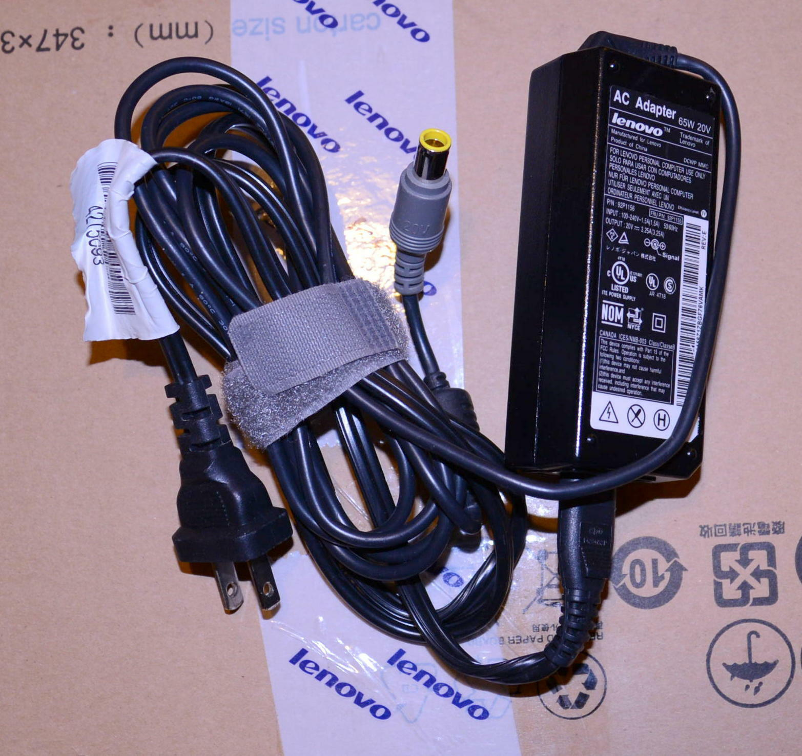 Lenovo Thinkpad 65w Ac Adapter Laptop Charger T420 T410