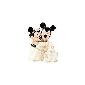 Lenox Disney Mickey Minnie Mouse Wedding Cake Topper