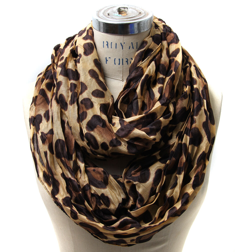 leopard infinity scarf style s shawl wrap stole