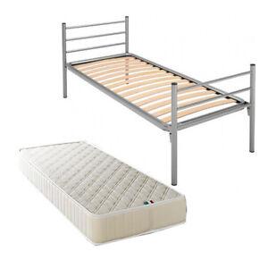Letto rete a doghe singolo in ferro ortopedico materasso ebay - Doghe letto singolo ...