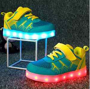 leuchtende led licht schuhe usb aufladen licht schuhe kinderschuhe sneakers ebay. Black Bedroom Furniture Sets. Home Design Ideas