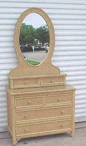 Bedroom Sets Lexington Henry Link Wicker Six Piece Bedroom Set Dressers Mirrors Bargain