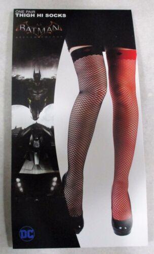 Licensed DC Comics HARLEY QUINN Cosplay Thigh High Fish Net Stockings Socks