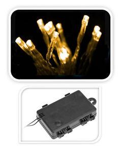 lichterkette 24 led warmwei innen au en zeitschaltuhr timer batterie ebay. Black Bedroom Furniture Sets. Home Design Ideas