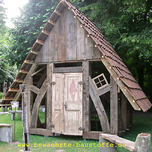liebeslaube gartenhaus historisches baumaterial eichenholz ebay. Black Bedroom Furniture Sets. Home Design Ideas