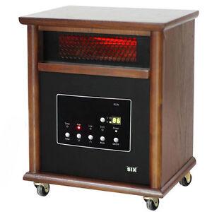 Power Plus Infrared Quartz Space Heater Heats 1800 Sq Ft Room Portable