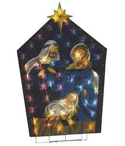 Outdoor Lighted Nativity Scene Decoration http://www.ebay.com/itm/Lighted-Holy-Family-Nativity-Scene-Outdoor-Christmas-Yard-Decoration-/251210392308