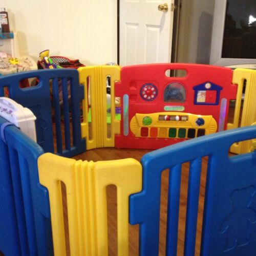 Lil Playzone Lights and Sounds Play Yard-Baby Playpen-Yard in Baby, Baby Gear, Play Pens & Play Yards | eBay