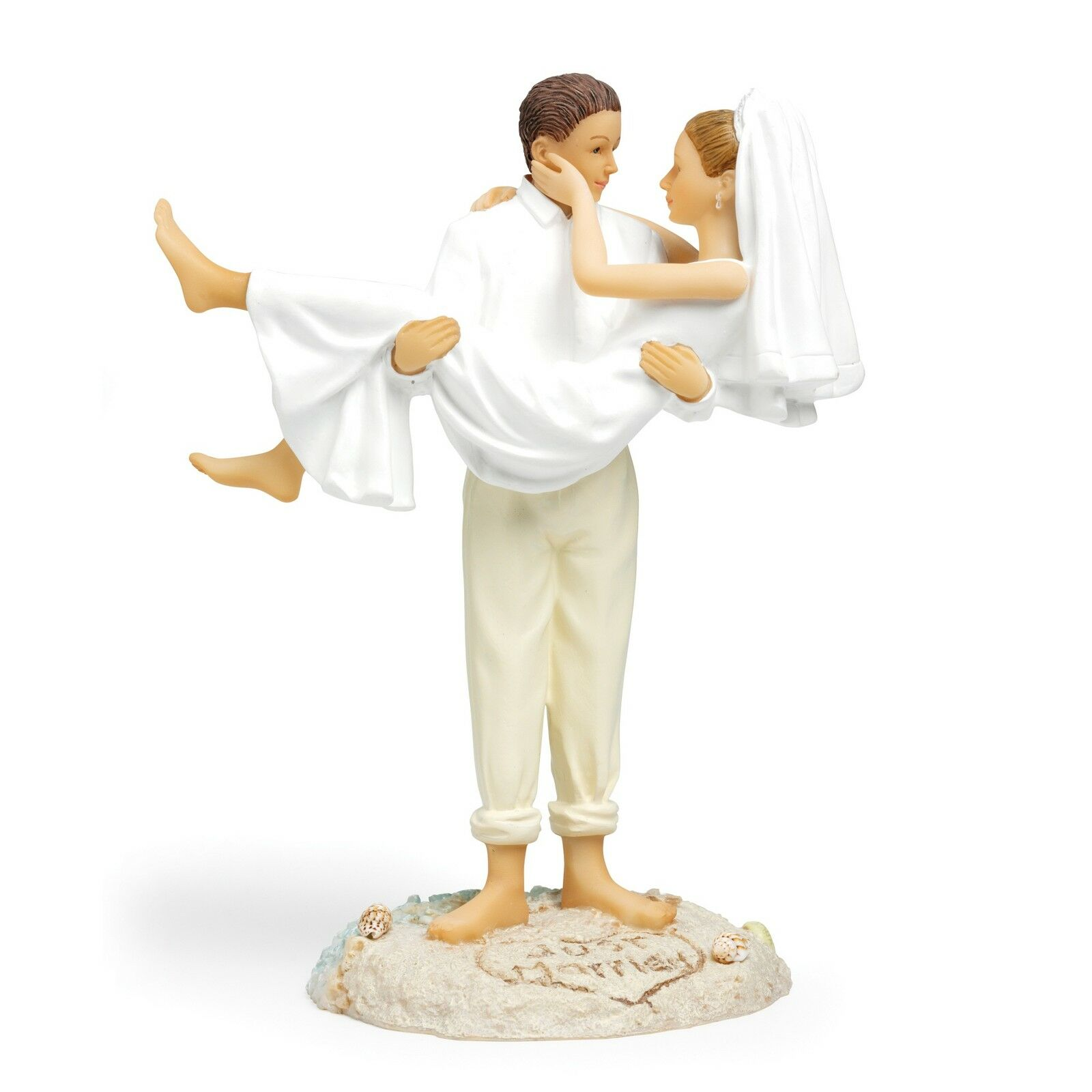 Groom Carrying Bride Wedding Cake Toppers