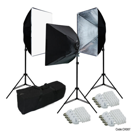 Linco Studio Photography 4 Sockets Light w/ Softbox Lighting Kit w/ Bag A31 in Cameras & Photo, Lighting & Studio, Background Material | eBay
