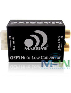 LineOut-Konverter-Lautsprecher-Eingang-Cinchausgang-MASSIVE-AUDIO-Hi2Lo-Neu