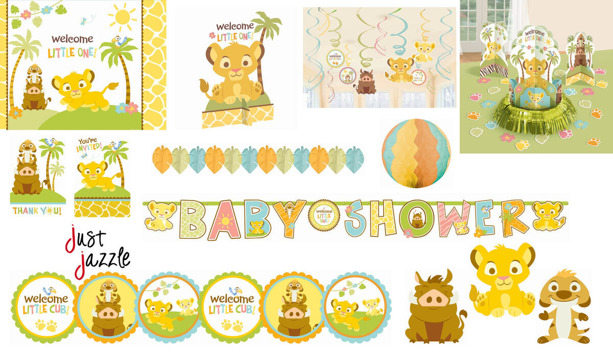 Image Of Baby Shower Lion King Invitations Simba Lion King Shower ...
