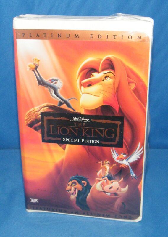 the lion king disney u0026 39 s vhs 2003 platinum edition features