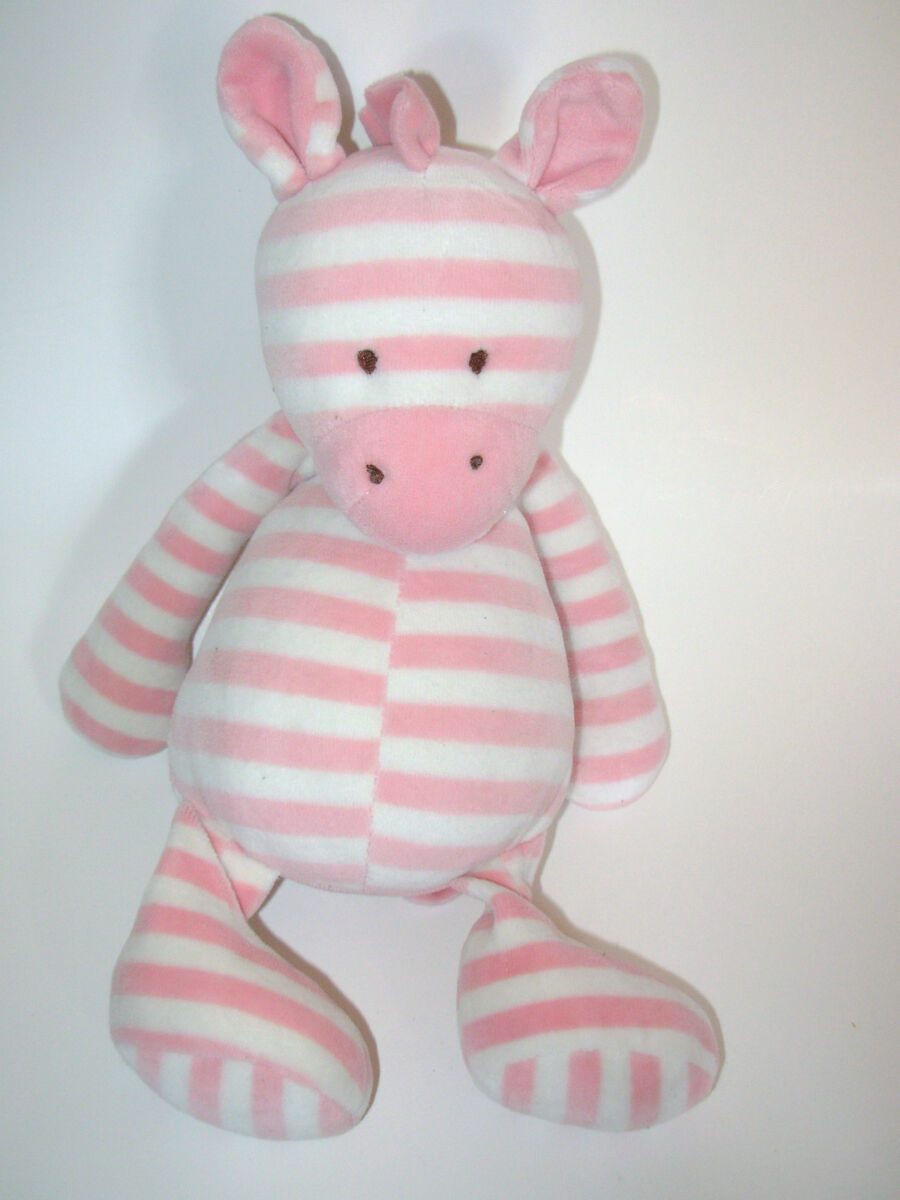 Little Jellycat Twibble Zebra Pink White Plush Stuffed Animal Soft
