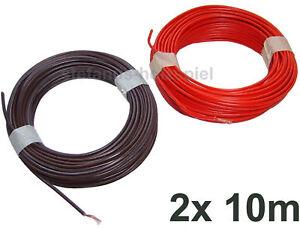 Litze-1-adrig-10m-rot-10m-braun-Modellbahn-Kabel-NEU