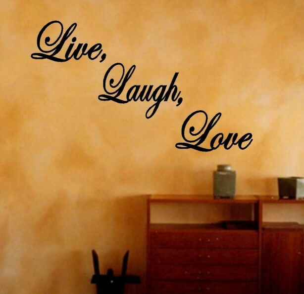 Live Laugh Love Decal Quote Lettering Home Vinyl Wall Art Sticker