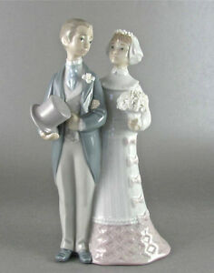 Lladro 4808 Wedding Bride Groom Glazed 250 00 Value Perfect EBay