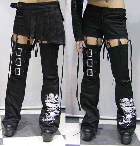 Lolita Kera VISUAL KEI PUNK GOTHIC Pants skirt trousers SIZE S XXL