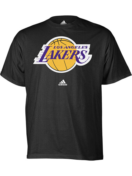 Los Angeles LA Lakers Black Adidas NBA Basketball T-shirt ...