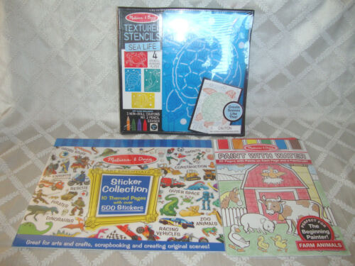 Lot 3 Melissa & Doug ARTS CRAFTS KITS Sea Life Stencils Farm Paint Stickers NEW in Crafts, Kids' Crafts, Craft Kits | eBay