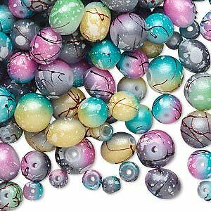 Lot Of 600 + Multi Colored Assorted Glass Beads Different Size And Shapes in Crafts, Beads & Jewelry Making, Beads, Pearls & Charms | eBay