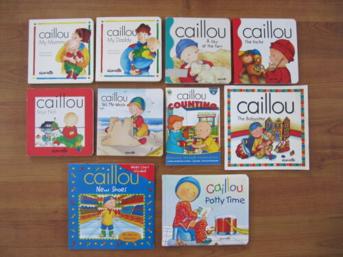 Lot of 10 Caillou by Chouette, Board & SC Books, My Mommy, My Daddy, New Shoes + in Books, Children & Young Adults | eBay