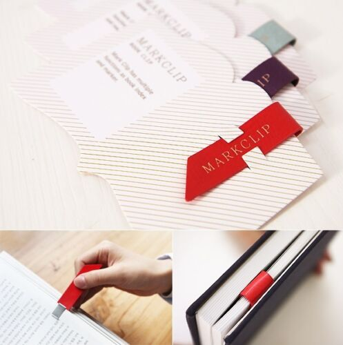 Lots 4 pcs Metal Aluminium Faux Leather Bookmark Index Memo Book Mark Clip Color in Books, Accessories, Bookmarks | eBay