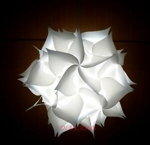 iq light ceiling pendant contemporary modern jigsaw lamp shades white