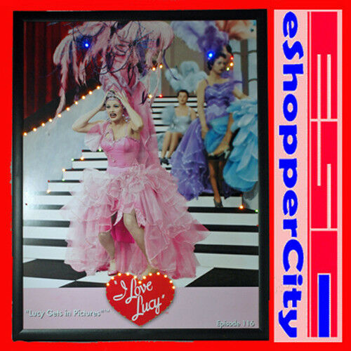 i love lucy led lighted picture poster frame art 19x25