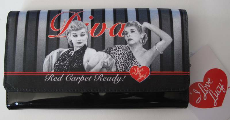 Love Lucy Lucille Ball & Ethel Wallet Checkbook NEW