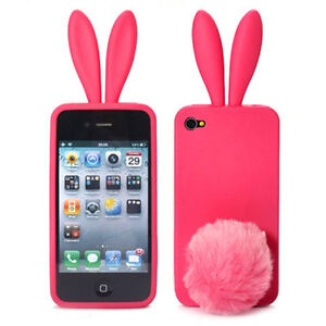 Lovely-Bunny-Rabbit-Tail-Soft-SILICONE-Case-Skin-Cover-For-iPhone4-4S-4G-C001