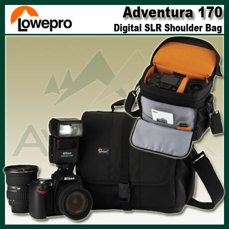Lowepro Adventura 170 DSLR Digital Camera Shoulder Bag for Nikon Canon Sony NEW in Cameras & Photo, Camera & Photo Accessories, Cases, Bags & Covers | eBay