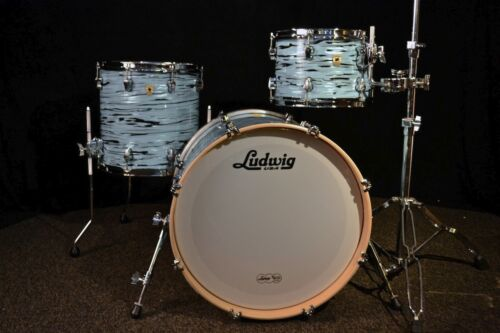 Ludwig drums sets Keystone USA Made 3pc Turquoyster 12, 14F, 20 Oak / Maple NEW in Musical Instruments & Gear, Percussion, Drums | eBay