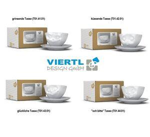 lustiges tassen set 4 st ck fiftyeight porzellan kaffeetassen mit gesicht ebay. Black Bedroom Furniture Sets. Home Design Ideas